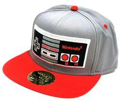 NINTENDO NES Controller Snapback Cap - Grey & Red