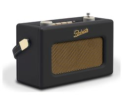 ROBERTS Revival Uno Retro Portable Clock Radio - Black