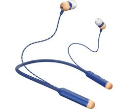 HOUSE OF MARLEY Smile Jamaica Wireless Bluetooth Headphones - Blue