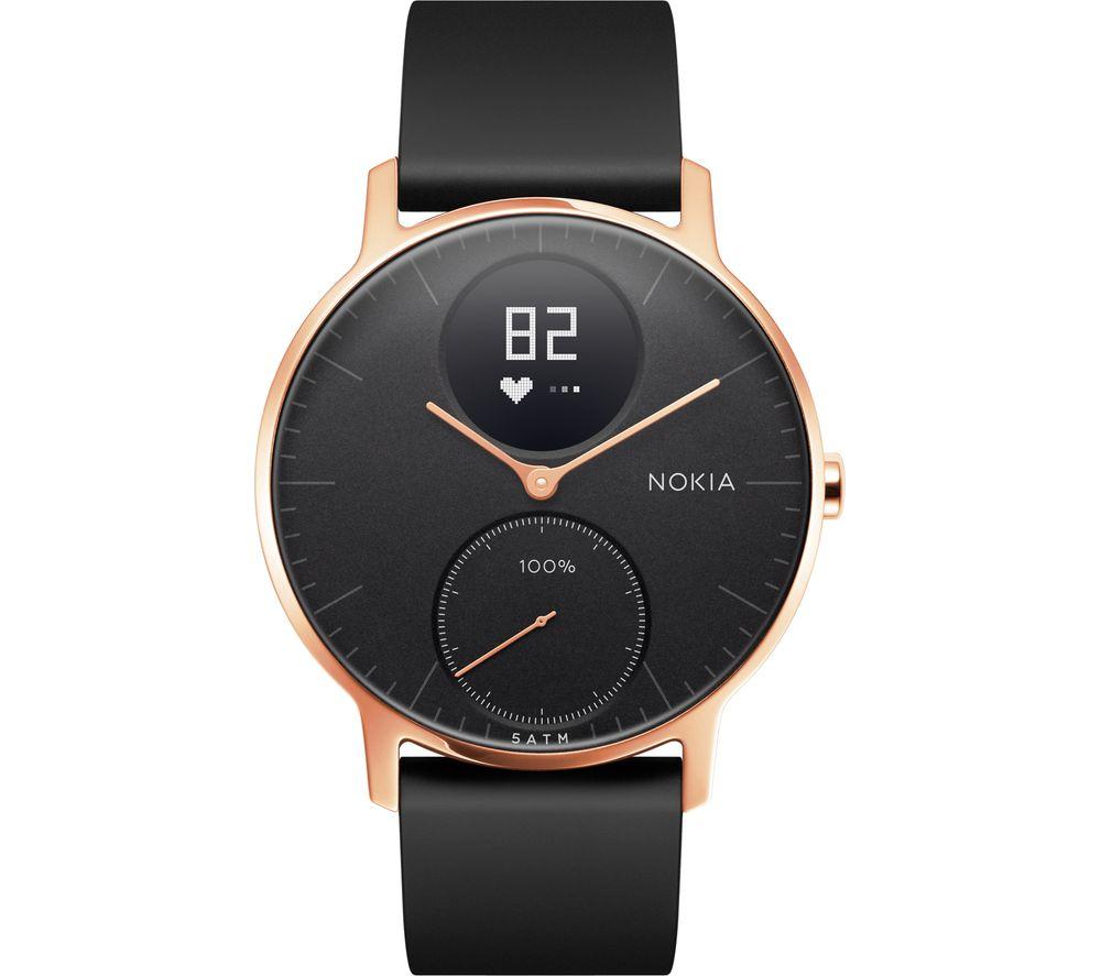Buy Nokia Steel Hr 36 Fitness Watch Rose Gold Amp Black