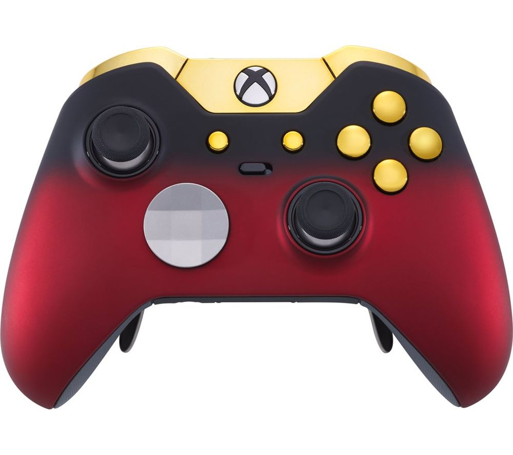 Image of MICROSOFT Xbox Elite Wireless Controller - Red Shadow & Gold, Red