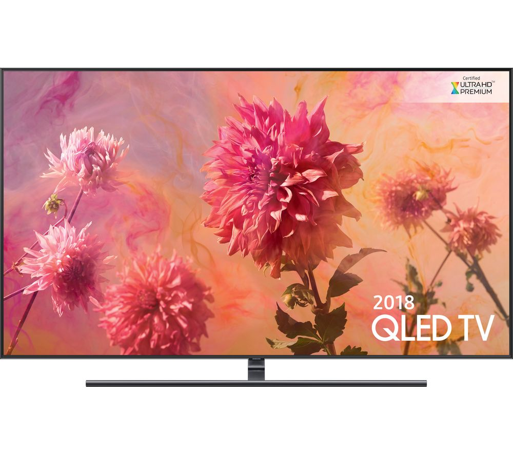 "Image of 55"" SAMSUNG QE55Q9FNATXXU Smart 4K Ultra HD HDR QLED TV, Gold"