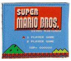 NINTENDO 1985 Super Mario Bros Retro Bifold Wallet - Blue