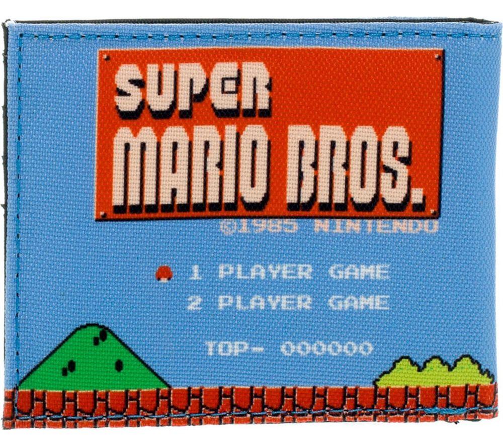 NINTENDO 1985 Super Mario Bros Retro Bifold Wallet - Blue, Blue
