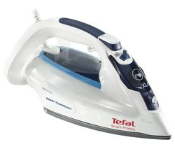 TEFAL Smart Protect FV4980 Steam Iron - White & Blue Best Price, Cheapest Prices