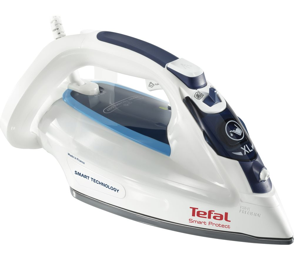 TEFAL Smart Protect FV4980 Steam Iron - White & Blue