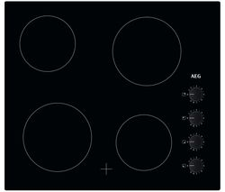 AEG HK614000CB Electric Ceramic Hob - Black Best Price, Cheapest Prices