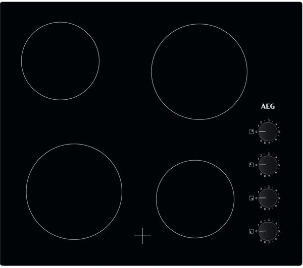 Image of AEG HK614000CB Electric Ceramic Hob - Black