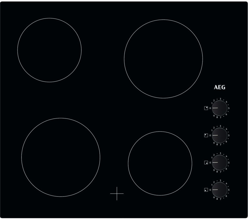 Image of AEG HK614000CB Electric Ceramic Hob - Black, Black