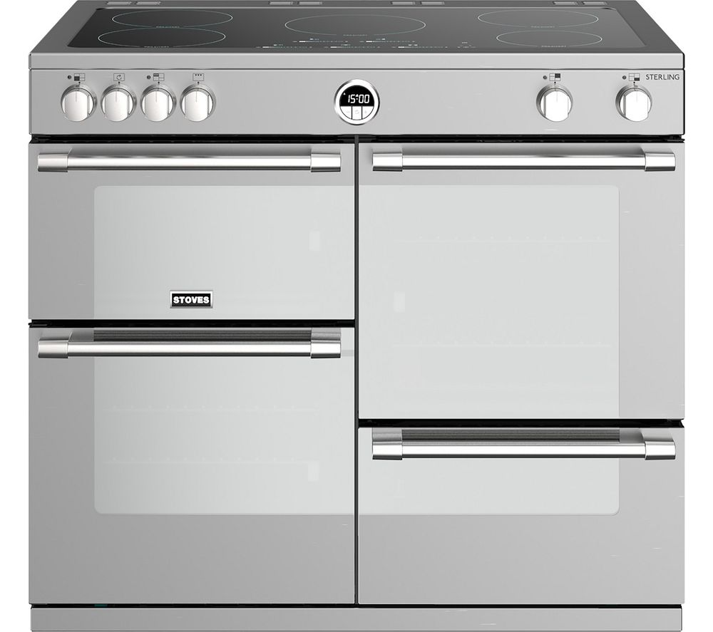 STOVES Sterling S1000Ei SS 100 cm Electric Induction Range Cooker - Stainless Steel