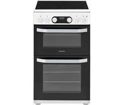 HOTPOINT HD5V93CCW 50 cm Electric Ceramic Cooker - Black Best Price, Cheapest Prices