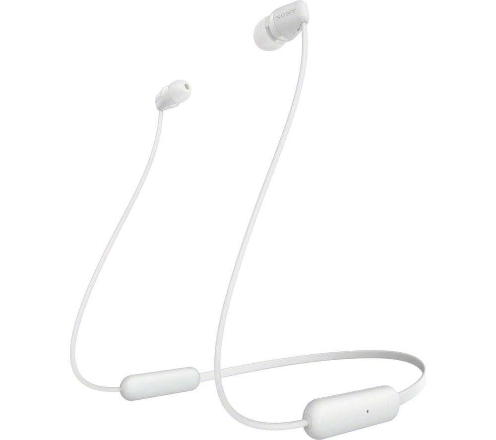 SONY WI-C200 Wireless Bluetooth Earphones - White