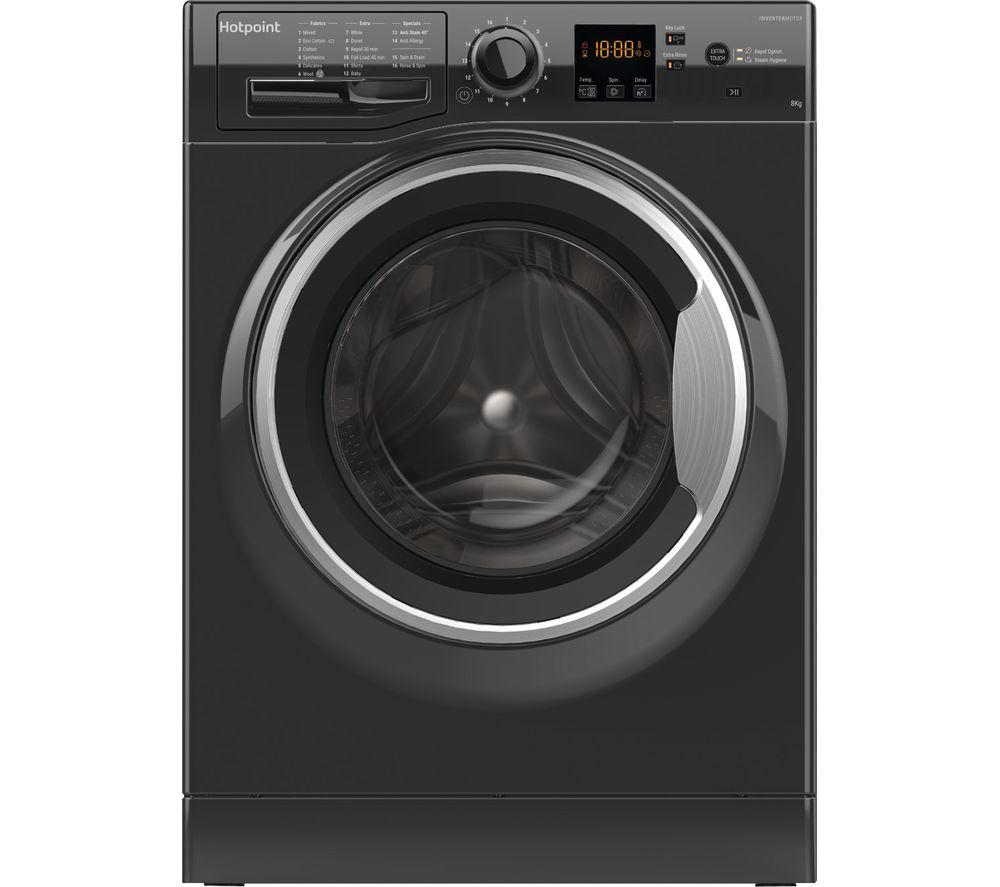 HOTPOINT NSWR 843C BS UK 8 kg 1400 Spin Washing Machine - Black