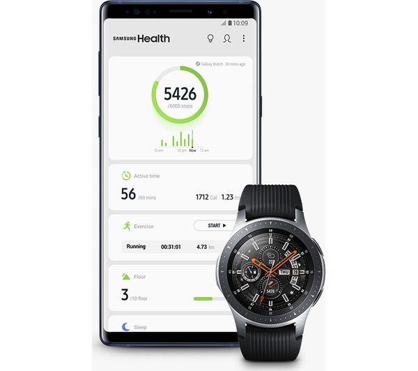 SAMSUNG Galaxy Watch 4G Silver, 46 mm