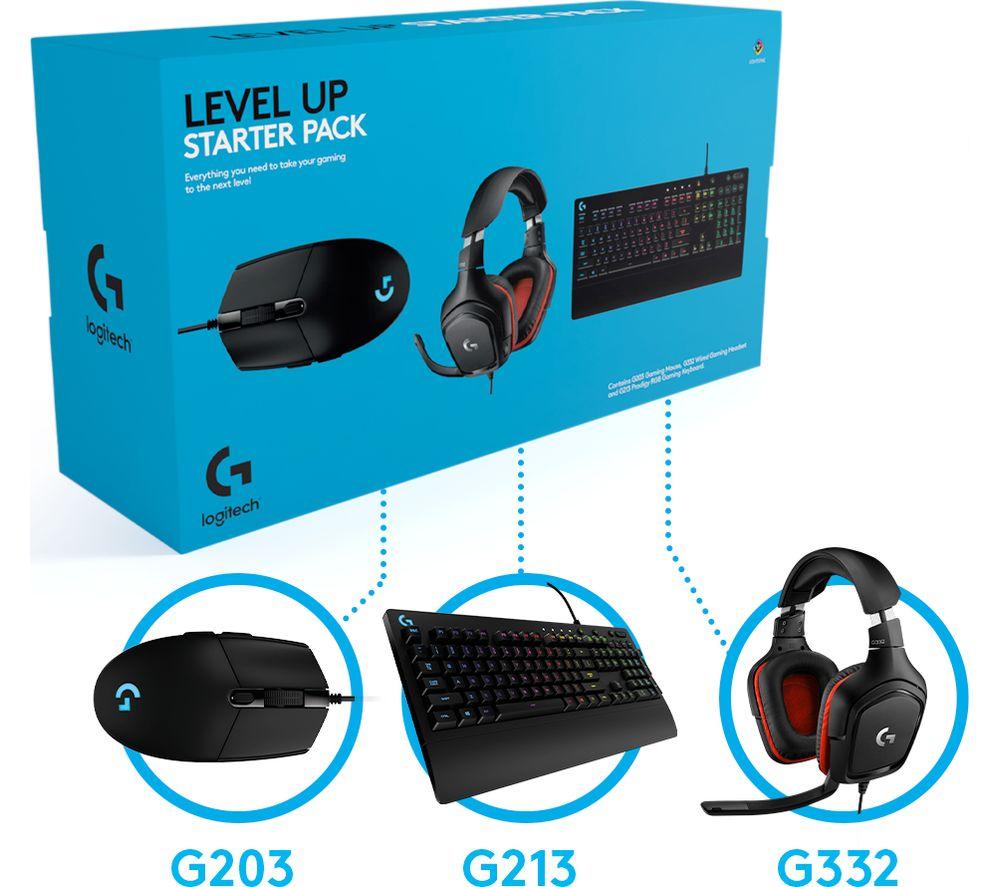 LOGITECH Level Up Keyboard, Mouse & Headset Starter Pack