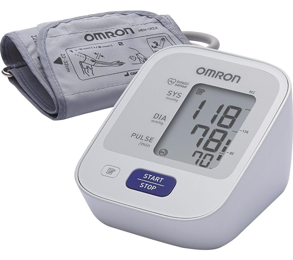 Image of OMRON M2 Upper Arm Blood Pressure Monitor - Grey & White, Grey