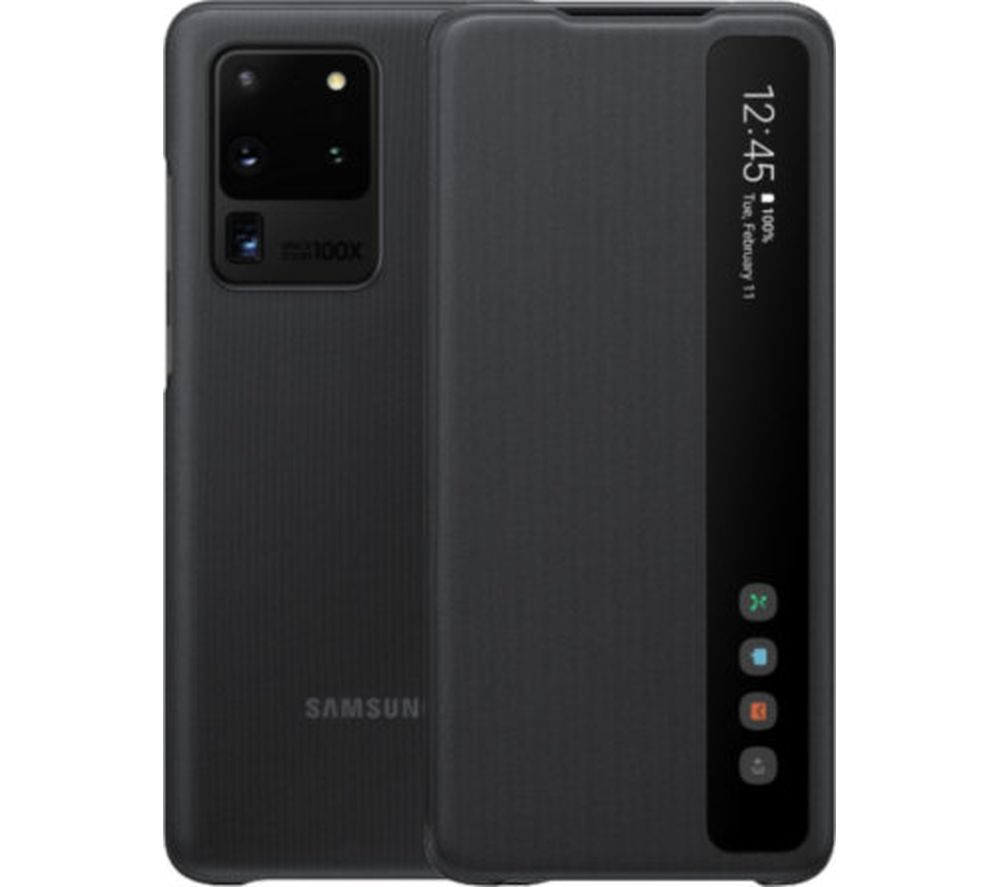 SAMSUNG S20 Ultra Clear View Cover - Black