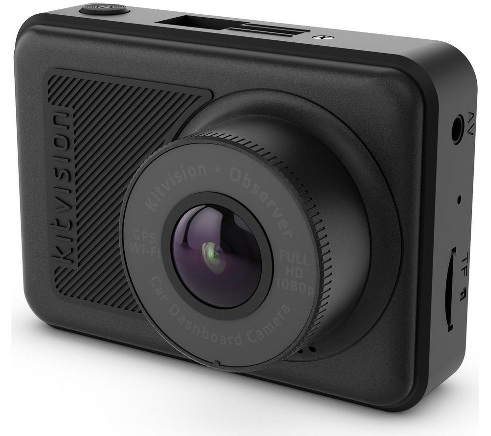 KITVISION Observer Full HD Dash Cam – Black, Black