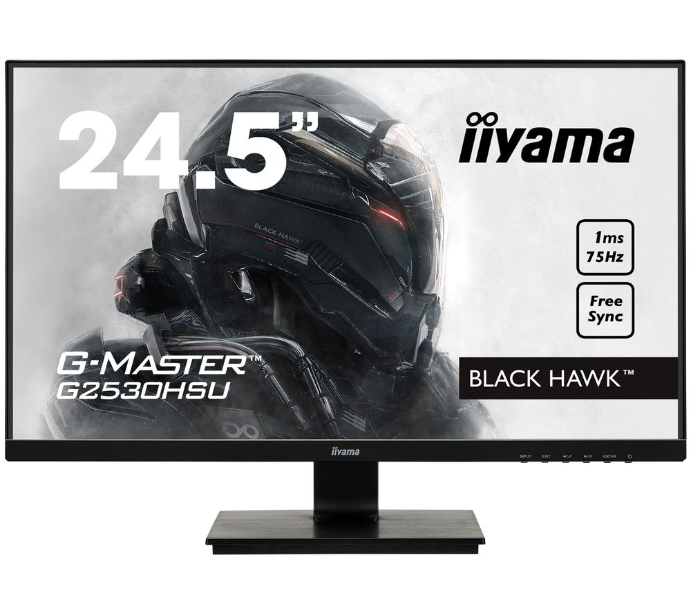 "Image of IIYAMA G-MASTER Black Hawk G2530 Full HD 24.5"" TN LCD Gaming Monitor - Black, Black"