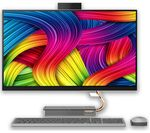 £1199, LENOVO IdeaCentre AIO 5i 27inch All-in-One PC - Intel® Core™ i5, 1 TB HDD & 256 GB SSD, Grey, Achieve: Fast computing with the latest tech, Intel® Core™ i5-10400T Processor, RAM: 8GB / Storage: 1 TB HDD & 256GB SSD, Graphics: NVIDIA GeForce GTX 1650 4GB, Quad HD display,