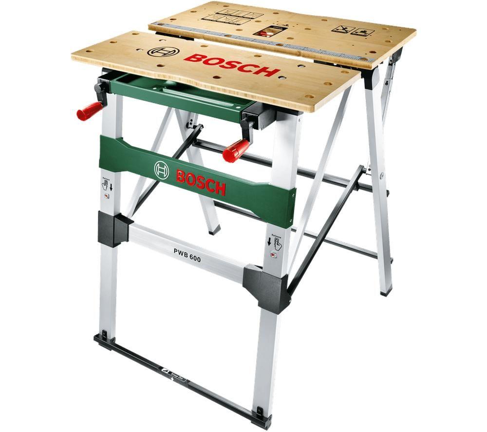 BOSCH PWB 600 Work Bench - Silver & Green