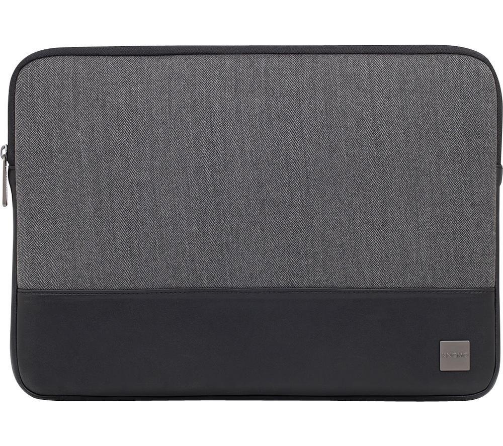 "Image of KNOMO Herringbone 14"" Laptop Sleeve - Grey, Grey"