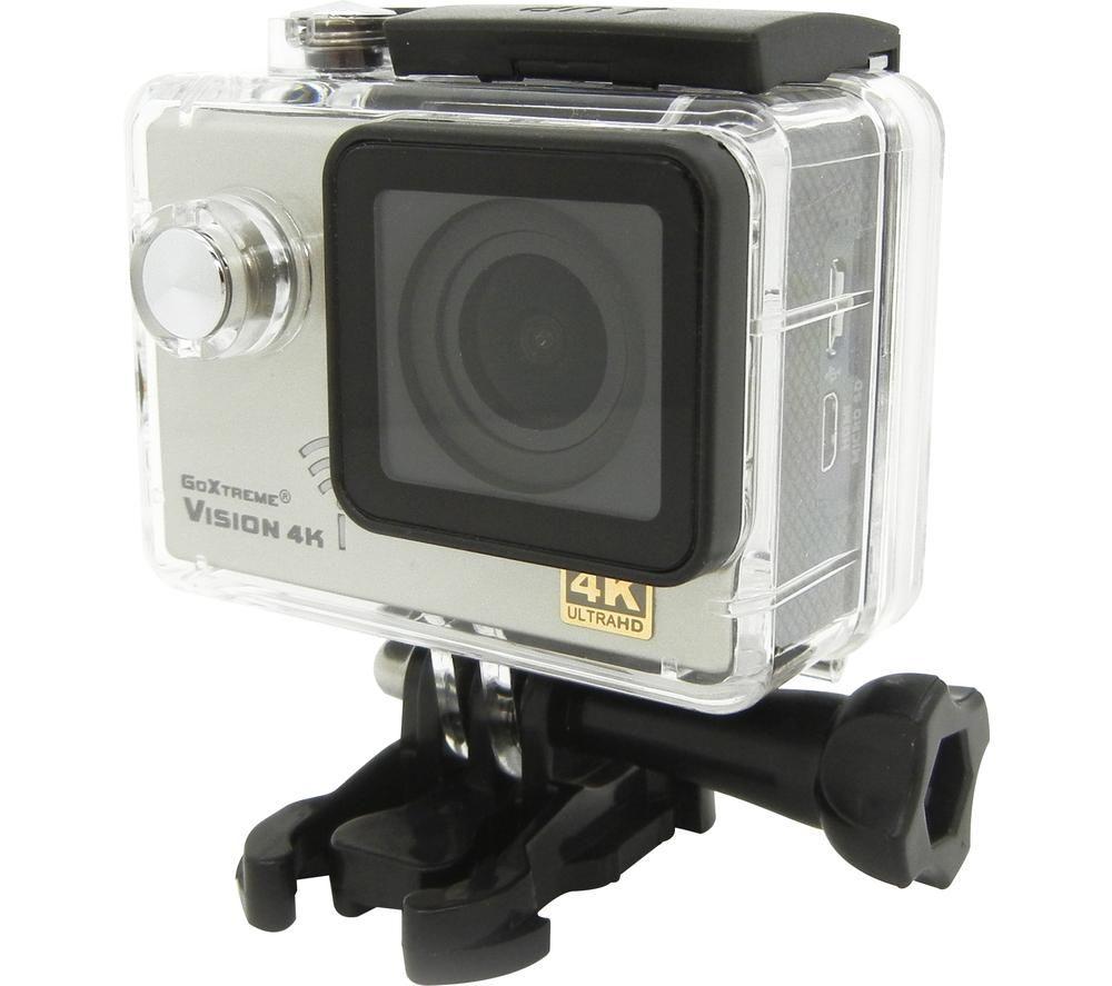 GOXTREME Vision 4K Ultra HD Action Camera - Silver