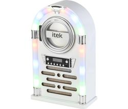 I60018CDGW Bluetooth Jukebox - Gloss White