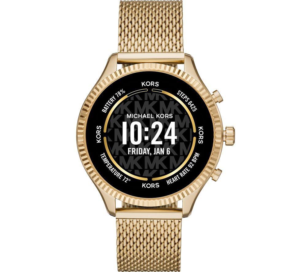 MICHAEL KORS Lexington Gen 5 MKT5113 Smartwatch - Gold, Mesh Strap, 44 mm
