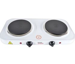 KitchenPerfected E4202WH Double Electric Hot Plate - White