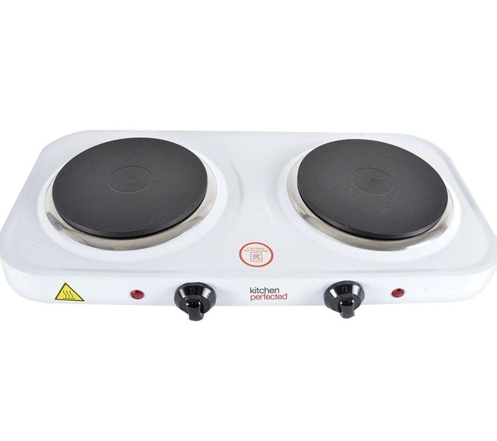LLOYTRON KitchenPerfected E4202WH Double Electric Hot Plate - White
