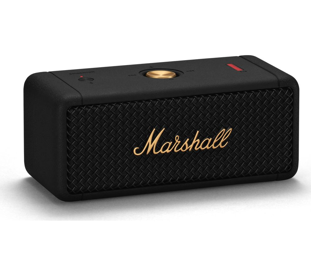 MARSHALL Emberton Portable Bluetooth Speaker - Black & Brass, Black
