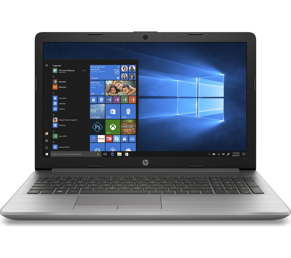"HP 255 G7 15.6"" Laptop - AMD Athlon, 128 GB SSD, Silver"