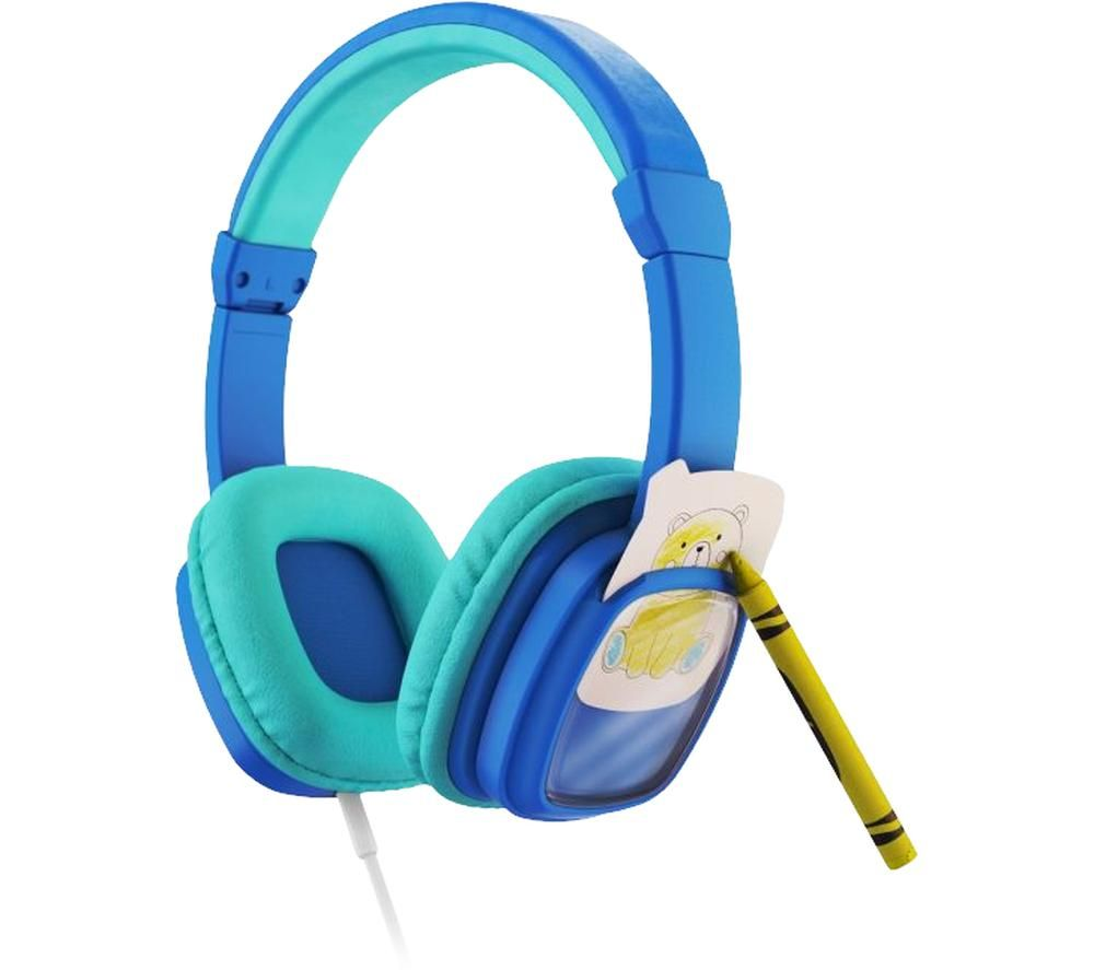 PLANET BUDDIES Colour & Swap Kids Headphones - Blue
