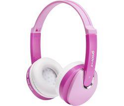 KIDZ Wireless Bluetooth Kids Headphones - Pink