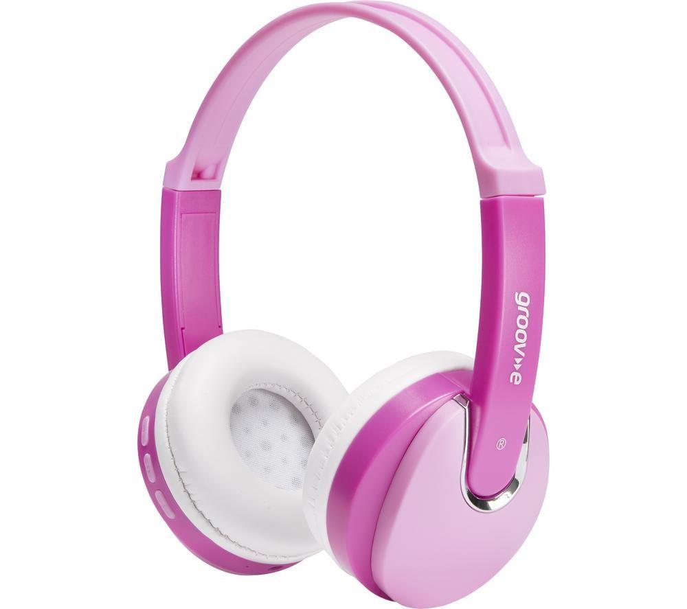 GROOV-E KIDZ Wireless Bluetooth Kids Headphones - Pink