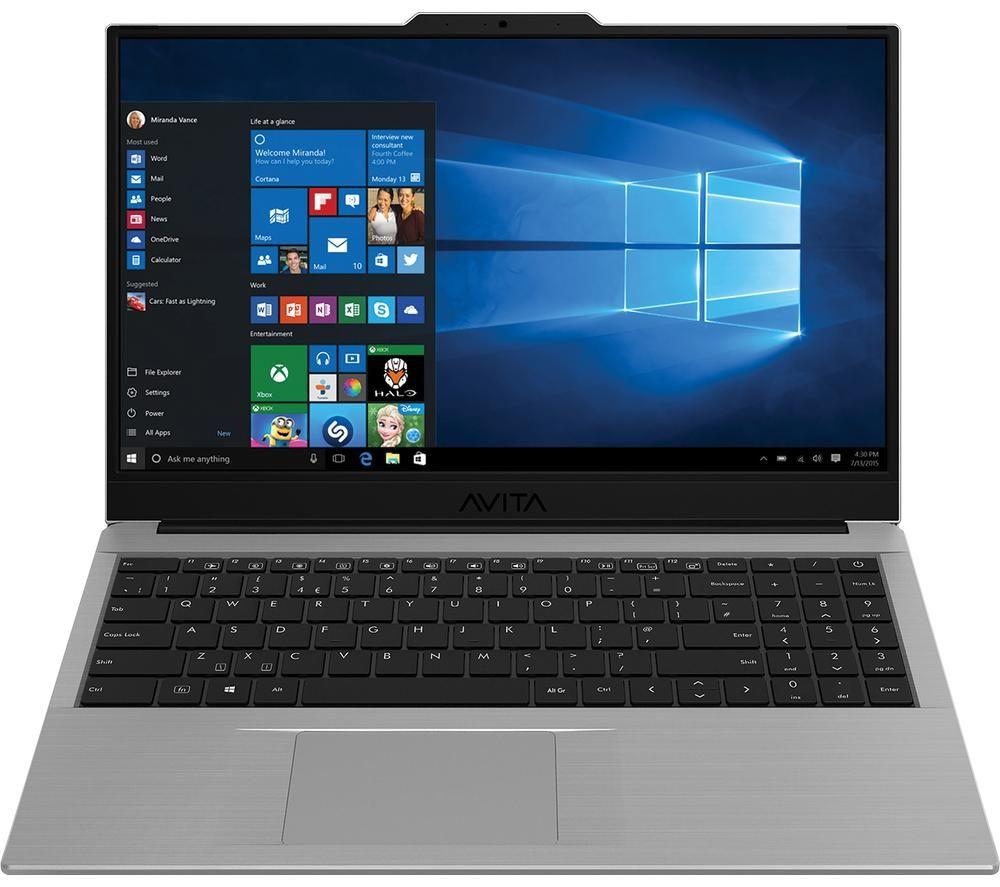 "Image of AVITA Pura 15.6"" Laptop - AMD Ryzen 5, 256 GB SSD, Silver Grey, Silver"