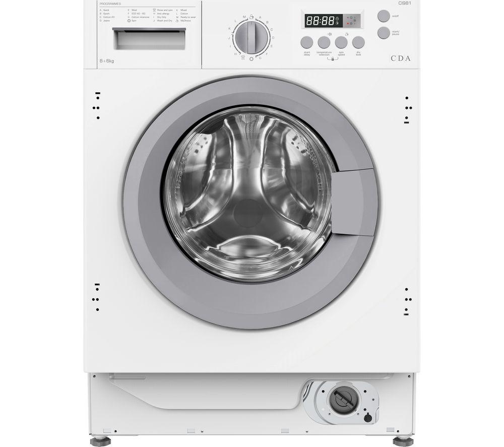CDA CI981 Integrated 8 kg Washer Dryer