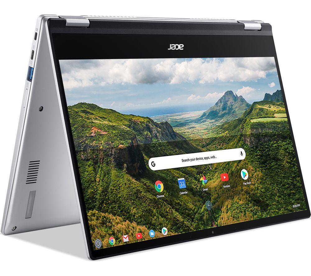 "ACER Spin 514 14"" 2 in 1 Chromebook - AMD Ryzen 5, 128 GB eMMC, Silver"