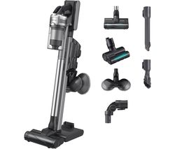 Jet 90 Pro Max 200 W Suction Power Cordless Vacuum Cleaner with Spinning Sweeper - Silver