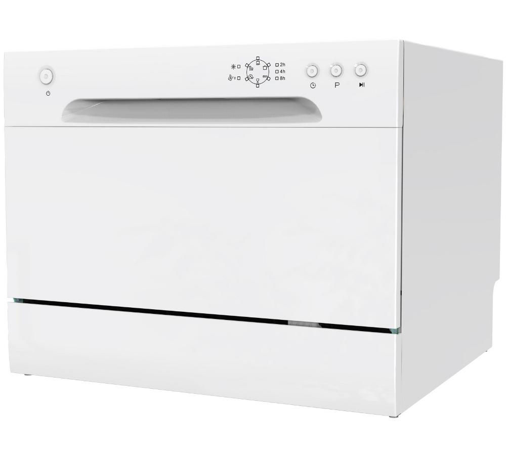 ESSENTIALS CDWTT15 Compact Dishwasher - White + Select DSX83410W Heat Pump Tumble Dryer - White