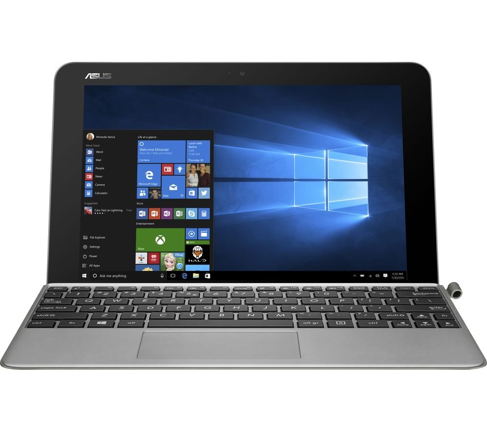 "ASUS Transformer Mini T102HA 10.1"" 2 in 1 - Silver + Office 365 Personal + LiveSafe Premium 2018 - 1 user / unlimited devices for 1 year"