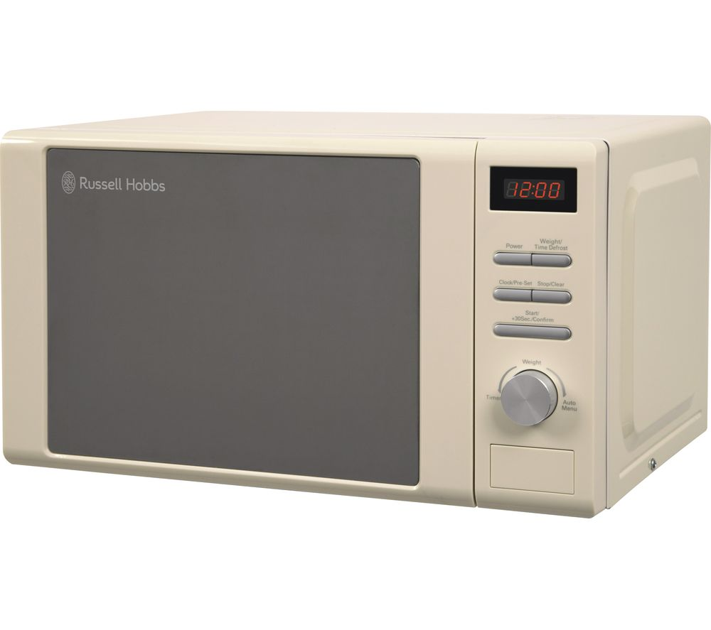 RUSSELL HOBBS RHM2064C Compact Solo Microwave - Cream