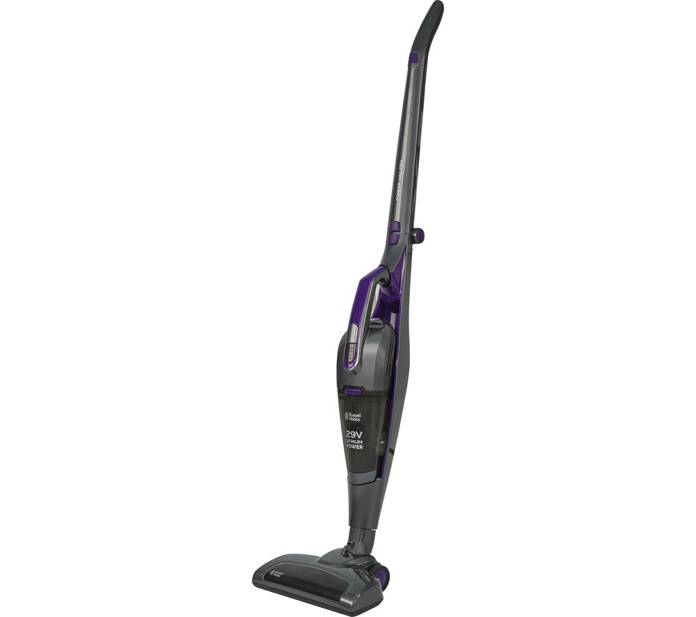 RUSSELL HOBBS Power Vac Pro RHSV2901 Cordless Vacuum Cleaner - Grey & Purple