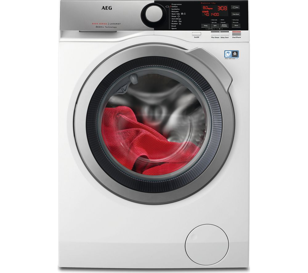 AEG ÖKOMix 8000 L8FEE845R 8 kg 1400 Spin Washing Machine - White