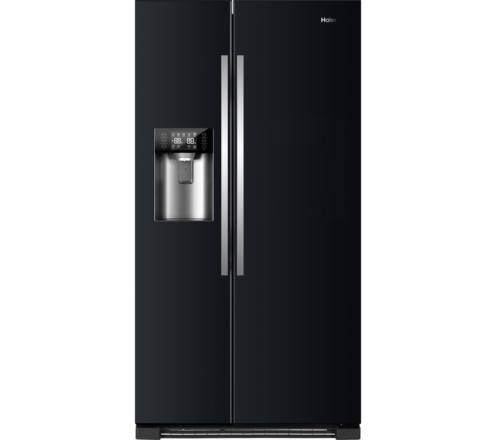 HAIER HRF-630IB7 American-Style Fridge Freezer - Pure Black