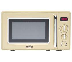 BELLING Retro FMR2080S Solo Microwave - Cream