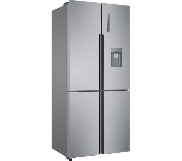 haier htf 452wm7 60 40 fridge freezer stainless steel fast delivery currysie. Black Bedroom Furniture Sets. Home Design Ideas