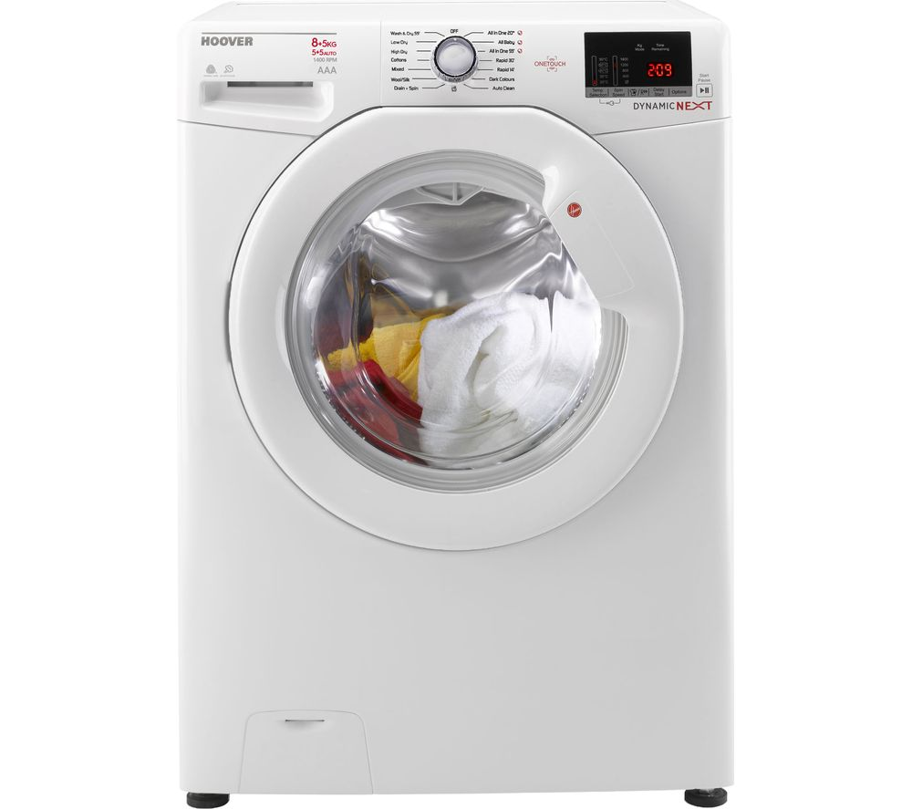 Hoover Washer Dryer WDXOC 485A Smart 8 kg  - White