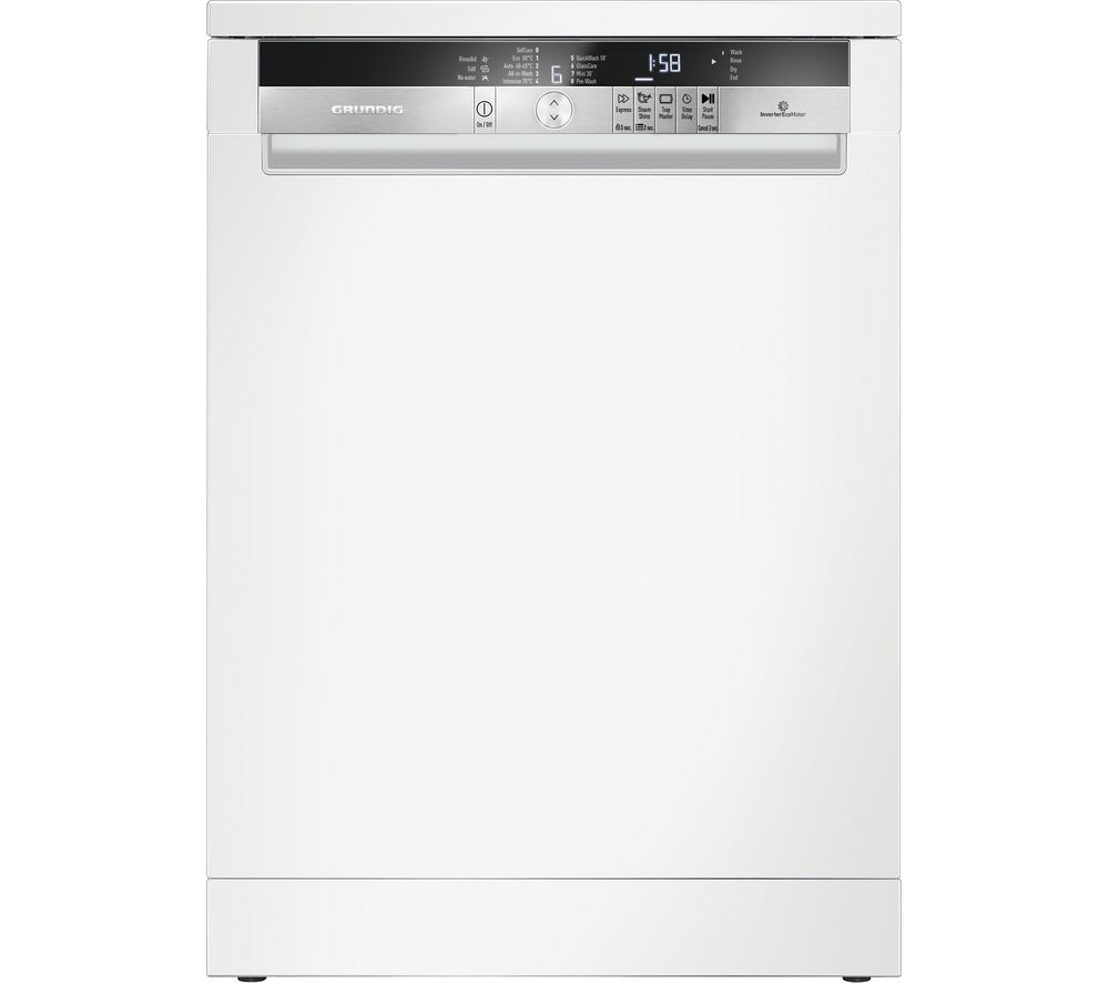 GRUNDIG GNF41821W Full-size Dishwasher - White, White